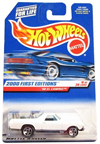 Hot Wheels 2000 First Editions '68 El Camino 8/36, White