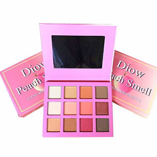 Diow Eyeshadow Palette Highly Pigmented Matte and Shimmer Peach Eye Shadows Professional Makeup Nudes Smokey Eyeshadows