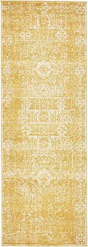 Unique Loom Tradition Collection Classic Southwestern Yellow Runner Rug (2' 2 x 6' 0) (Yellow Runners)