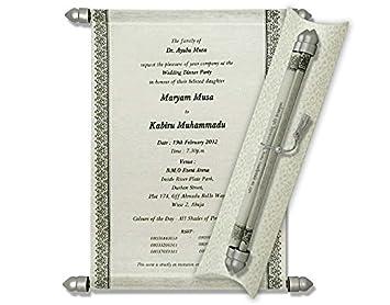 Amazon cheap scroll invitations scroll wedding invitations cheap scroll invitations scroll wedding invitations wedding scrolls 10 pcs white filmwisefo