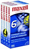 Maxell STD-T-120 4 Pack VHS Tapes 2-Pack