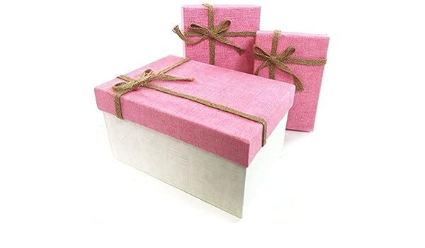 Tela simple lazo rectángulo cartón duro Craft almacenamiento ...