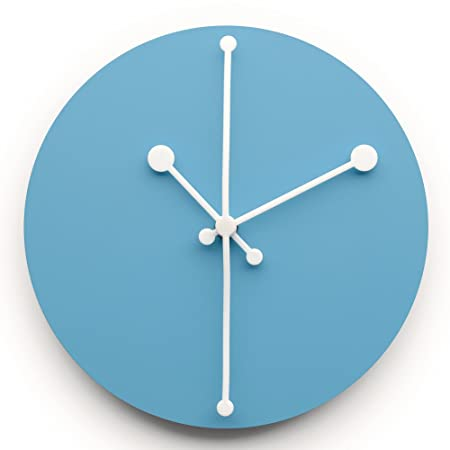 Alessi Steel Coloured With Epoxy Resin Dotty Wall Clock, Turquoise Images