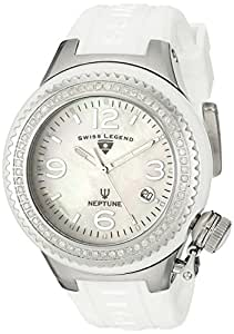 Swiss Legend Women's 11844D-WWSA Neptune White Mother-Of-Pearl Dial Diamond Accented Watch