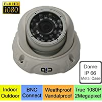 CIB True HD-TVI 1080P 2.1Megapixel HD Vandal Dome Cameras, BNC Connect Type. Connect to HD-TVI Security DVR System Only. --- T80P03W
