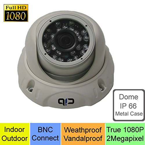 CIB 4 X True HD-TVI 1080P 2.1Megapixel HD Vandal Dome Cameras, BNC Connect Type. Connect to HD-TVI Security DVR System Only. --- T80P03W-4 by CIB Security