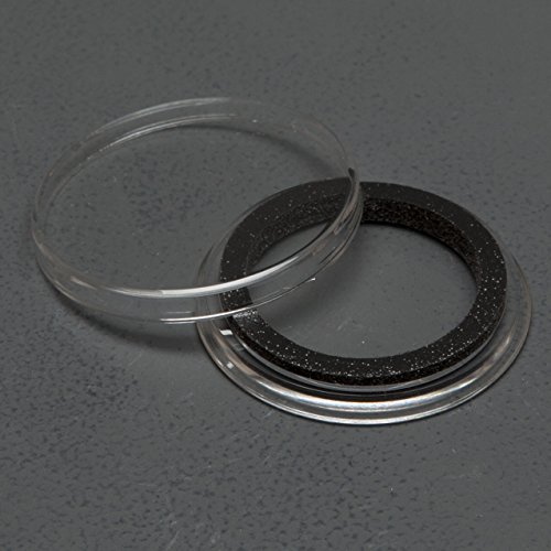 ((25) Genuine Air-Tite Coin Holders Brand Black Ring Type Coin Capsules Protect your Valuable Silver, Gold, Platinum, Challenge, and Medallion Coins with our Crystal Clear Protective Holders (25mm Black Ring))