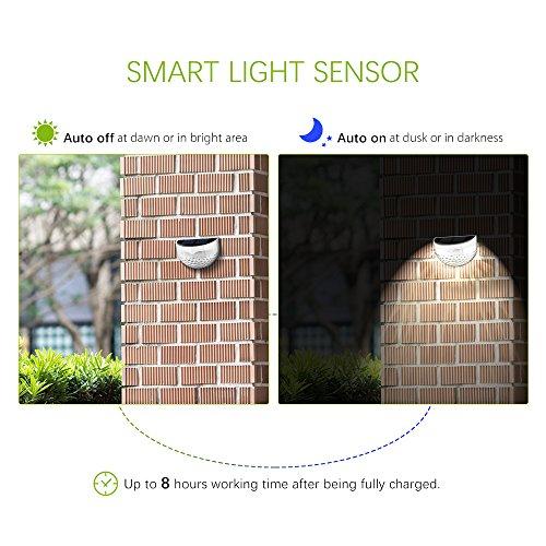 Patec Solar-powered 6 LEDs Light,Outdoor Semi-circle Waterproof ...