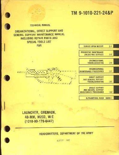 Grenade Launcher 40-MM M203 (1010-00-179-6447) Operator's Manual -