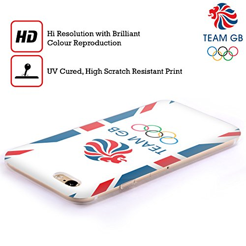 Official Team GB British Olympic Association Flag Logo Soft Gel Case for Apple iPhone 6 / 6s