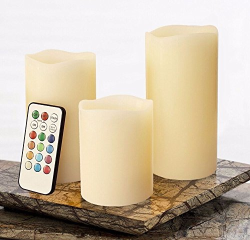 (NEW 3pc LED Flameless Candles 4