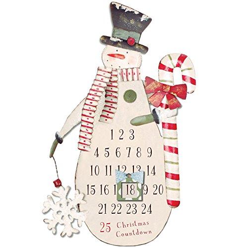 Xmas Calendars (Snowman Magnet Christmas Countdown Holiday Wall Décor Xmas Advent Calendar)