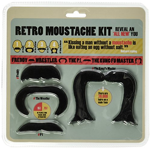 [Retro Self Adhesive Costume & Party Disguise mustache set] (Fake Mustache Kit)