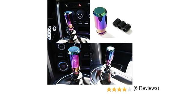 etc Christmas Birthday Gift KONDUONE Neo Chrome Manual or Automatic Shift Knob Universal Fit for Honda Acura Mazda Mitsubishi Nissan Infiniti Lexus Toyota Scion