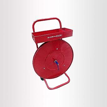 Carro dispensador fleje PP/PET Ø 150-406 mm Color Rojo
