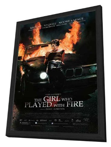 The Girl Who Played with Fire - 27 x 40 Framed Movie Poster