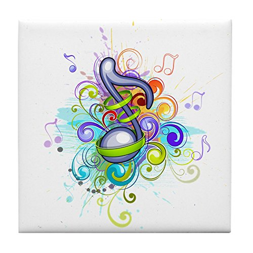 Tile Coaster (Set 4) Musician Music Note Colorful HD