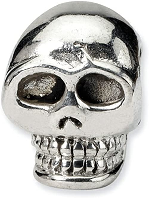 Sterling Silver Reflections Skull Bead