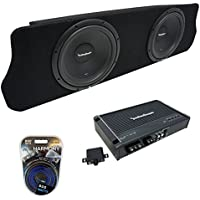 Fits 1994-2004 Ford Mustang Coupe Rockford Prime R1S410 Dual 10 Custom Sub Box Enclosure & R250X1 Amp