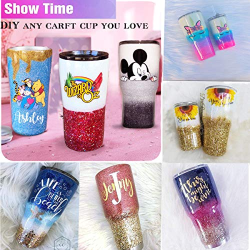 Funesla Cup Turner for Crafts Turner NO Assembly Cup Spinner Machine Kit DIY Glitter Epoxy Tumblers (with ON/Off Switch)