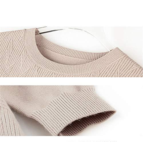 Head Temperamento Slim Versatile Girocollo Vino length Loose Skirt Bag Hip Mid Rosso Shirloy Bottom Sweater Maglione Donna PqE4vAxw