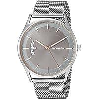 Skagen Men's Holst Quartz Stainless Steel Mesh Casual Watch, Color: Silver-Tone (Model: SKW6396)