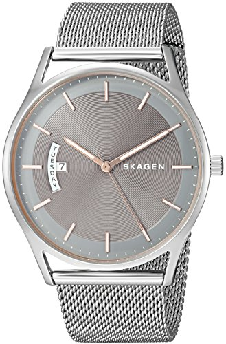 Skagen Men's 'Holst' Quartz Stainless Steel Casual Watch, Color:Silver-Toned (Model: SKW6396)