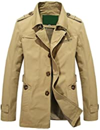 """<span class=""""a-offscreen"""">[Sponsored]</span>Man's Classic Lapel Single-Breasted Lightweight Casual Trench Coat Windbreaker"""
