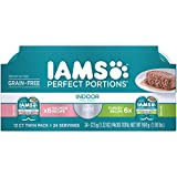 Iams Perfect Portions Grain Free Indoor Wet Cat Food Paté For Indoor Cats, Salmon Recipe And Turkey...