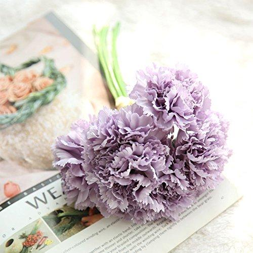Claveles artificiales, Hermoso Simular Carnation Bouquet decoración la casa, Regalo del día de la madre