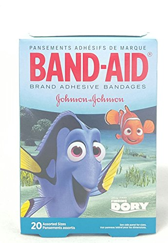 Band-Aid Adhesive Bandages, Disney's Finding Dory, 20 Count Per Box (2 Boxes) -