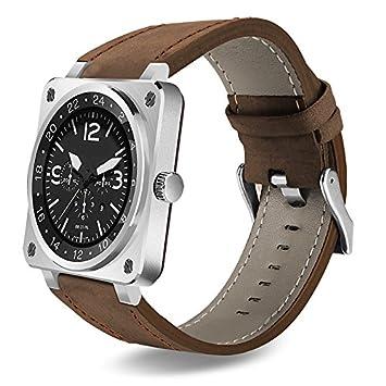 Lemumu Bluetooth Smart Watch Extreme Thin Business Leather Band ...