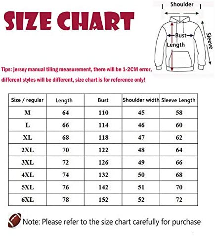 CCKWX Männer NFL Jersey, Detroit Lions Hoodie Fußball Long Sleeve Printed Mit Kapuze Beiläufiger Bequemer Sport-Sweatshirt,Schwarz,5XL