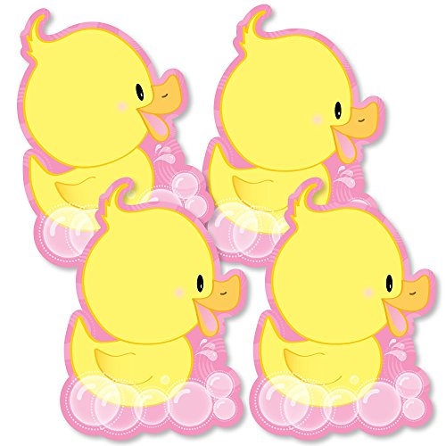 Pink Ducky Duck - Decorations DIY Baby Shower or Birthday Party Essentials - Set of -