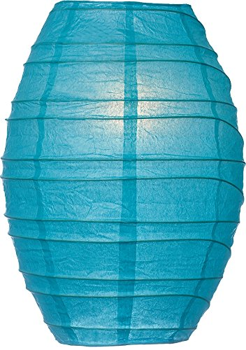 Luna-Bazaar-Cocoon-Premium-Paper-Lantern-Clip-On-Lamp-Shade-10-Inch-Turquoise-Blue-For-Home-Decor-Parties-and-Weddings