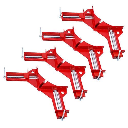 Tooltime® 4 Pack of 4' 100mm Right Angled Mitre Corner Vice Picture Frame Clamp Tooltime®