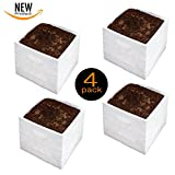 TipPot Stretch Grow Fabric 4 Pack liner turns milk crate into fabric garden or covers your old faded pots to look like new! garden planter fabric pot tip pot square foot garden pot cover
