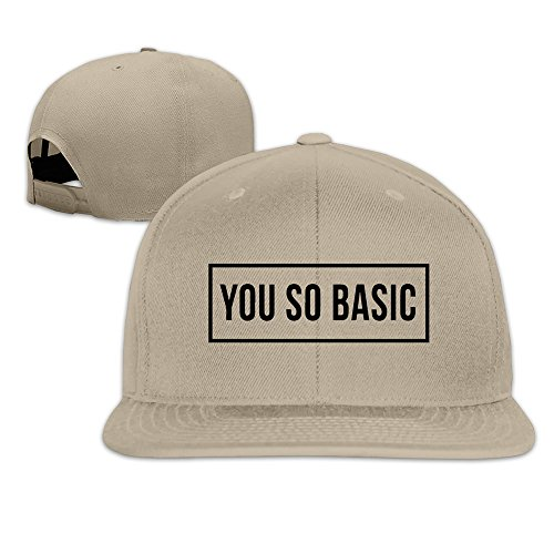 Basee You So Basic Adjustable Flat Along All Cap Natural Unisex One Size