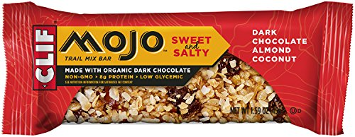 CLIF MOJO - Trail Mix Bar - Dark Chocolate Almond Coconut - (1.6 oz, 12 Count) - Mojo Dipped Chocolate Peanut Butter