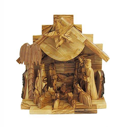 Kurt Adler LOC0003 7.9'' Olive Wood Nativity Music Box by Kurt Adler (Image #1)
