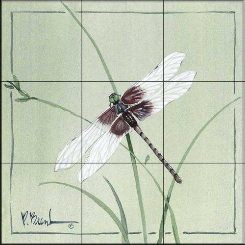 Ceramic Tile Mural - Dragonfly - by Paul Brent - Kitchen backsplash/Bathroom shower
