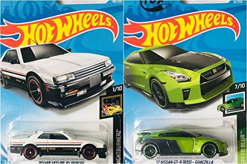 Hot Wheels Nissan Skyline RS KDR30 48/250 and 17 Nissan GT-R R35 Guaczilla 61/250 2 Car Set Bundle