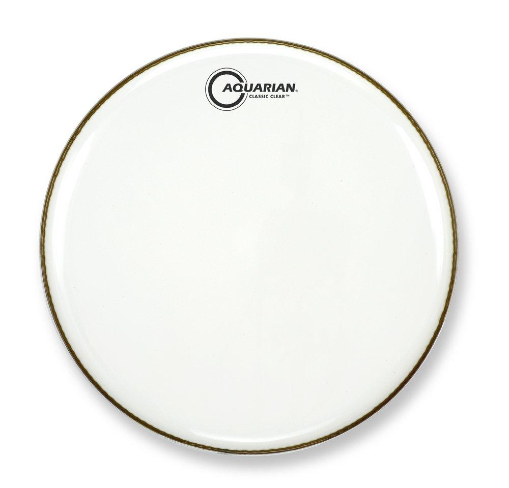 Aquarian CC22WH Drumheads Classic Clear 22-Inch Bass Drum Head, Gloss White Aquarian Drumheads