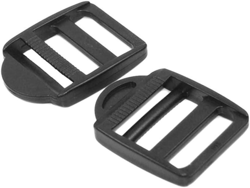 25mm Black 5//8 3//4 1 1-1//4 1-1//2 2 Plastic Black Ladder Lock Slider Adjustable Buckle for Backpack Straps Webbing Parts Webbing Size:1