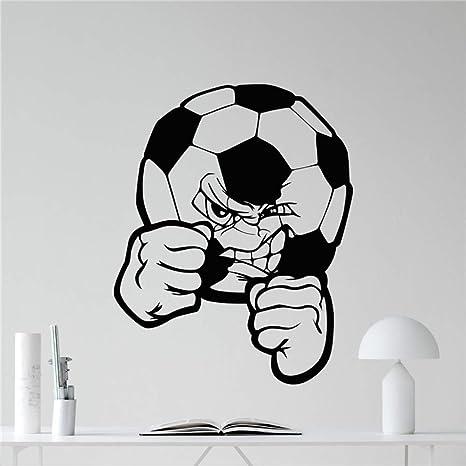 Balón de fútbol Tatuajes de pared Balón de fútbol Vinilo deportivo ...