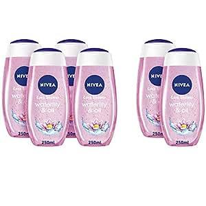 NIVEA, Shower Gel, Fresh Feeling, Waterlily & Oil, 4 + 2 x 250ml free