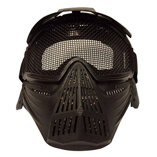 Etopsell Tactical Airsoft Pro Full Face Mask with Safety Metal Mesh Goggles (Airsoft Full Face Mask)