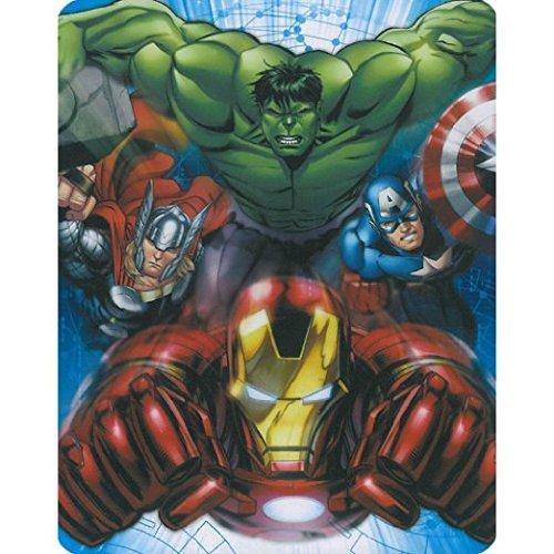 Marvel Comics Avengers Bedding Set Superhero (Polyester & Polyester Blend, Avengers Baby Blanket Plush Throw