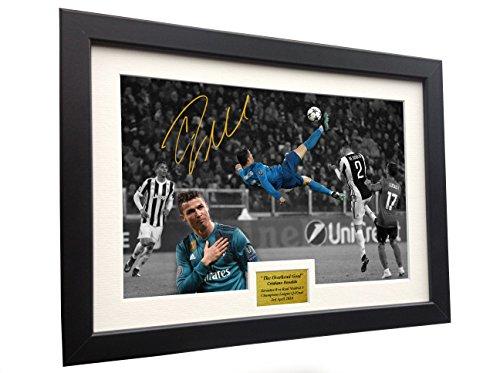 (Cristiano Ronaldo 12x8 A4 Signed The Overhead Goal -Juventus 0 vs Real Madrid 3
