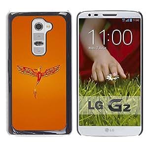 Be Good Phone Accessory // Dura Cáscara cubierta Protectora Caso Carcasa Funda de Protección para LG G2 D800 D802 D802TA D803 VS980 LS980 // Golden Phoenix